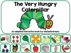 Everyone loves Eric Carle and the Very Hungry Caterpillar! This adapted and interactive Velcro book is modified for the accessibility of all students. Its perfect for an independent Literacy center, work station, task basket, or SLP activity.This product includes:* An 18 page adapted interactive Velcro book that focuses on sequencing and vocabulary (life cycle, foods, & days of the week) from the Story The Very Hungry Caterpillar by Eric Carle.* 27 Vocabulary Word Cards for a pocket ...