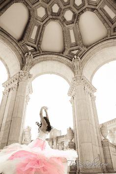 Quinceañera, Sweet 16 photography. Palace of Fine Arts, San Francisco CA Bay Area www.tasinsabir.com