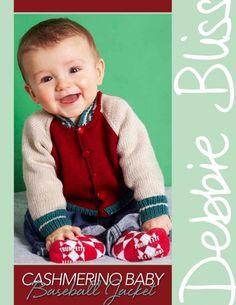 Cashmerino Baby - Baseball Jacket from  by Debbie Bliss at KnittingFever.com