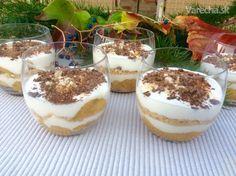 Smotanové poháre s jablkovo-banánovou vrstvou (fotorecept) - Recept