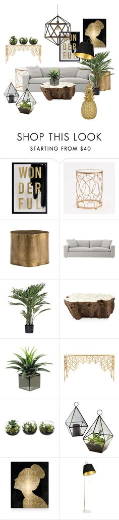 """""""Living Room 5"""" by ellakatykat ❤ liked on Polyvore featuring interior, interiors, interior design, home, home decor, interior decorating, Oliver Gal Artist Co., InnerSpace Luxury Products, Palecek and Safavieh"""