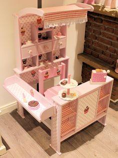 Kaufladen rosa weiß Shabby