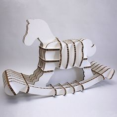 Cardboard rocking horse. Just leave your sippy cup behind!