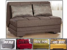 The Twist Convertible Full Size Loveseat Sofa Bed Click Clack by Istikbal