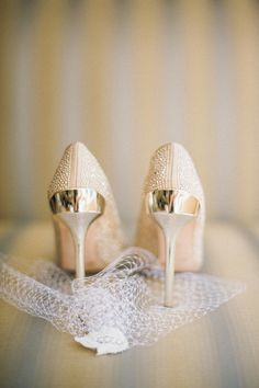 Ivory Bridal Shoes Justin Mary Photography Theknot Champagne Wedding