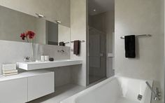 Bathroom using a modern bathroom bathtub design in it is a bathroom design that you may often see. Usually, this bathroom design not only uses a bathtub but als Shower Cubicles, Modern Bathroom Design, Bathroom Renovation, Bathtub Design, Amazing Bathrooms, Modern Bathroom Remodel, Bathroom Mirror Lights, Bathroom Renovations, Bathroom Design