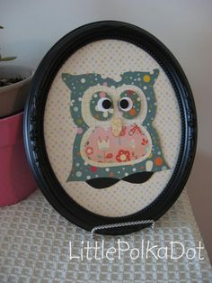 owl template on esty...would make a cute decoartion in an owl room!