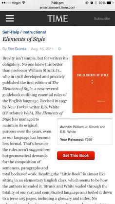 Elements Of Style, Self Help, Professor, Writer, Books, Teacher, Libros, Sign Writer, Book