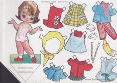 Vintage Paper Dolls, Retro, Looking Back, Nostalgia, Paper Art, Decoupage, Barbie, Toys, Crochet