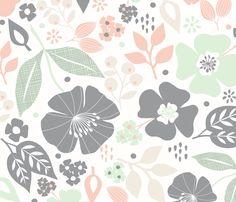 Wildflowers fabric by cottonflower_studio on Spoonflower - custom fabric