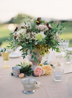Romantic, whimsical centerpiece ~ {SposiamoVi - Italian Wedding Planners}
