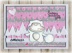 C.C. Designs Meoples Yeti Fun, C.C. Designs Snowy Sentiments, C.C. Designs Snowy Day Paper Pad, C.C. Cutters Make A Card #11 Winter Die, C.C. Cutters Make A Card #9 Autumn Die, C.C. Designs Snowy Day Enamel Dots