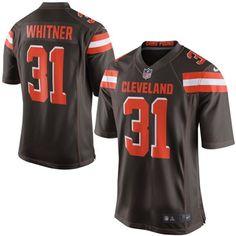 Men Cleveland Browns 31 Donte Whitner Brown Elite Jersey