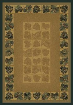 United Weavers of America Genesis Collection Pine Cones Heavyweight Heat Set Olefin Rug, 3-Feet 11-Inch by 5-Feet3-Inch, Natural *** Be sure to check out this awesome product. (This is an affiliate link) #HomeDecor