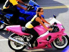 Bike week Yes I'm feelin the pink one :)