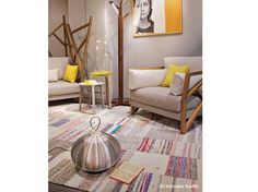 Patchwork rug from Roche Bobois