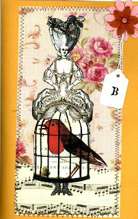Created by Lisa Guerin with Character Constructions art stamps, Queen of Tarts collection.