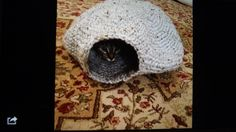 Crocheted Cozy Kitty Cate Nest by BizzyBeeGifts on Etsy
