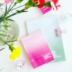 Planner / desk / notes / pink / mint / colorful / Studio Stationery