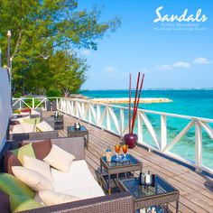 Enjoy the refreshing ambience at the private offshore island | Sandals Resorts | The Bahamas