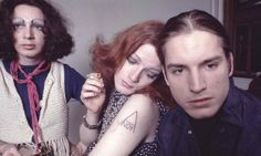 Holly Woodlawn, Jackie Curtis, and 'Little' Joe Dallesandro at Andy Warhol's Factory in 1971.