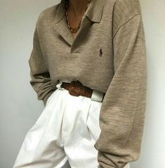 New finds online now - paired with Na Nin Townes Trousers in white linen Mode Outfits, Fall Outfits, Fashion Outfits, Womens Fashion, Look Fashion, Winter Fashion, Spring Look, Looks Style, My Style