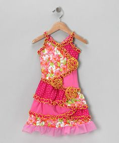 Take a look at this Pink Floral Patchwork Dress - Infant, Toddler & Girls by GiGi on #zulily today!