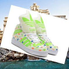 Adidas Pharrell Williams, Stan Smith Uomo Sportswear Bianco / Rosso