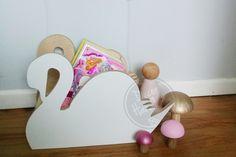 Decor Handled - Miss Swan Book Holder, Shelves