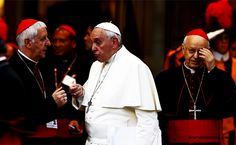 """THE CATHOLIC CHURCH CIVIL WAR: The Vatican has long said that the Catholic Church """"never changes"""", but guess what? It is in the death throes of a cataclysmic change at this very moment. Just as Obama made homosexuality and the LGBT Agenda an evil ordinance of the United States, so Pope Francis is attempting to wreak that same unGodly havoc upon the already Godless Catholic church corporation. The ensuing war is splitting the Catholic church http://www.nowtheendbegins.com/blog/?p=36564"""