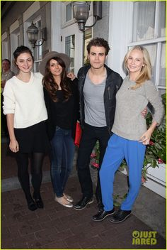 Paul Wesley, Phoebe Tonkin,Nina,and Candice at the 2013 Savannah Film Festival held on Saturday (October 26) Oh yeah, stand apart so no one will know you're dating! It's already out there, Paul & Phoebe.