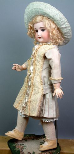 "Delicious Antique 20"" SFBJ 301 French BEBE Antique Child Great Doll Bid Now 