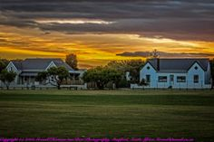 The two houses used too look the same but a facelift changed the look of the left drastically. South Africa, Sisters, Van, Fine Art, Mansions, Landscape, House Styles, Gallery, Green
