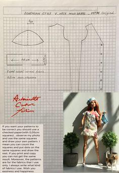 Barbie Go, Made To Move Barbie, Barbie Dress, Doll Dress Patterns, Barbie Patterns, Sewing Barbie Clothes, Barbie Fashionista Dolls, Barbie Basics, Homemade Dolls