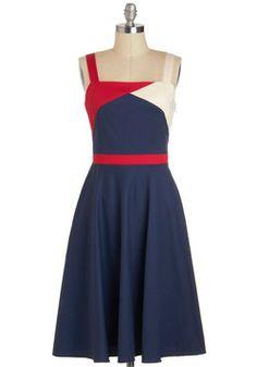 Hay, nautical nanaman :)  Flag Down Your Ride Dress, #ModCloth