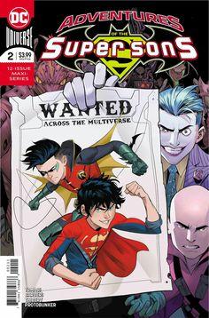 Adventures of the Super Sons DC 2019 2 of 12 ROBIN Super Boy. Dc Comic Books, Comic Book Covers, Comic Book Characters, Comic Art, Supergirl, Super Sons, Dc Comics, Cosmic Comics, Robin The Boy Wonder