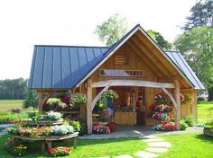 Crossroad Farmstand   Vermont Timber Frame Company: TimberHomes ...