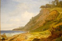 Johan Thomas Lundbye (1818-1848) A Canish Coast View from Kitnaes at Roskilde Fjord.
