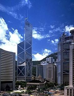 I M Pei Bank of China Tower in Hong Kong