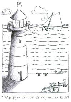 * Wijs jij de zeilboot de weg naar de kade?