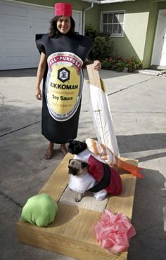 35 Awesome Homemade Matching Pet and Owner Couples Costumes - Neatorama