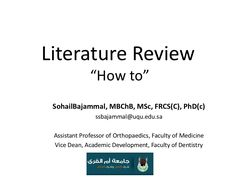 literature review writer