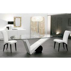 Cattelan Italia Mesa Viola D'amore. Diseño Piero De Longhi. Mesa con base en mármol blanco Carrara. Cilindro en mármol Travertino, blanco Carrara o negro.