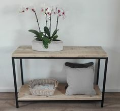 Sidetable JERSEY – Stalen-Frame.nl Entryway Bench, Living Spaces, Sweet Home, Dining Room, Loft, Iron, Jersey, House, Furniture