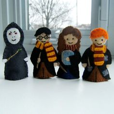 Harry Potter finger puppet or hair clip so easy to make I must make these