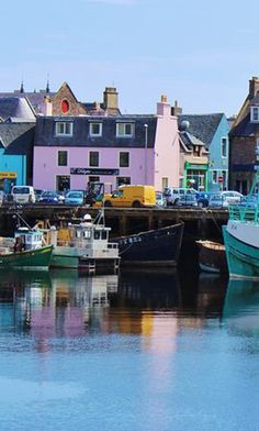 Reflections of Stornoway Harbour, Scotland Northern Lights Scotland, Scotland Culture, Orkney Islands, Outer Hebrides, North Sea, Scotland Travel, Atlantic Ocean, Dream Vacations, Places Ive Been