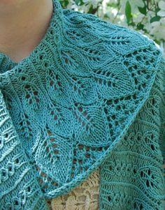 Cachecol de tricô feito com linha de algodão.