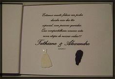 Caderno para  Assinatura de Casamento