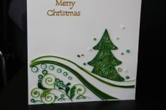 Quilling card christmas tree