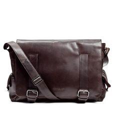 FEYNSINN Messenger bag ASHTON - Leder Umhängetasche vintage-braun Taschen Herrentaschen
